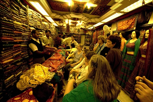 Shopping for Garba costumes in Delhi!  (photo: Jared Weber Mattes)