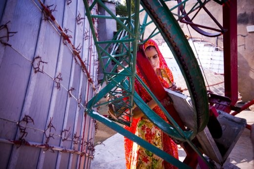 A solar engineer at Barefoot College, Rajasthan