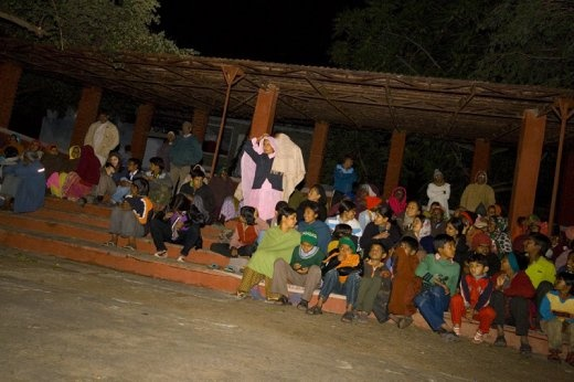 A segment of the outside audience at Barefoot College in Rajasthan