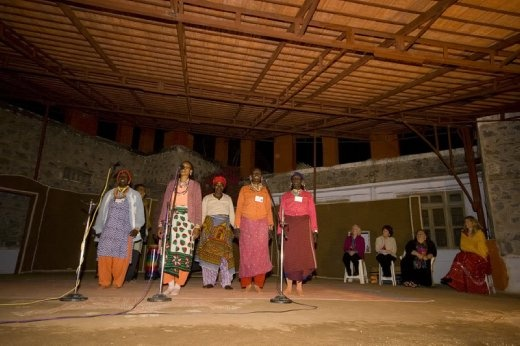 African women singing at Barefoot College, Rajasthan