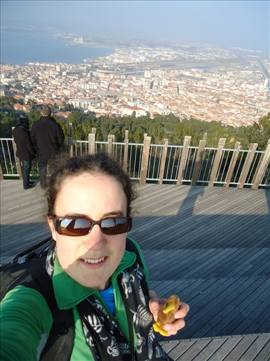 Moi, up Mont St Clair in Sète, with my wee Kiwi, Kingi.