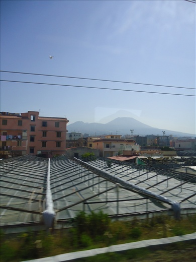 Train from Pompei to Rome