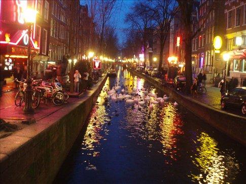 maior atracao do bairro vermelho Amsterdam