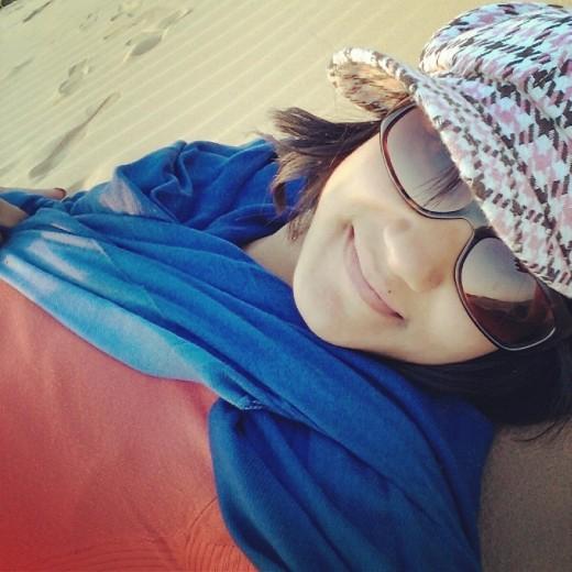 Relaxing on the beautiful Sam Sand Dunes in the Thar Desert!