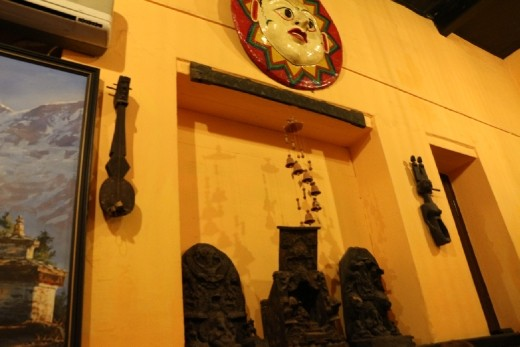Local musical instruments  used for decorative purposes. They can be commonly found hanging on walls.