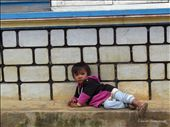 A young Lat minority boy near Dalat resting on the stairs : by lindsaysimo09, Views[256]