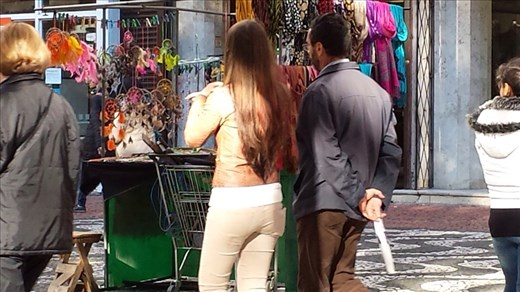 Noticed a lot of women with really pretty long hair. Nothing worth noting regarding men's hair. Porto Alegre