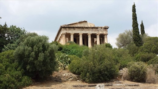 Structures to the north on Acropolis