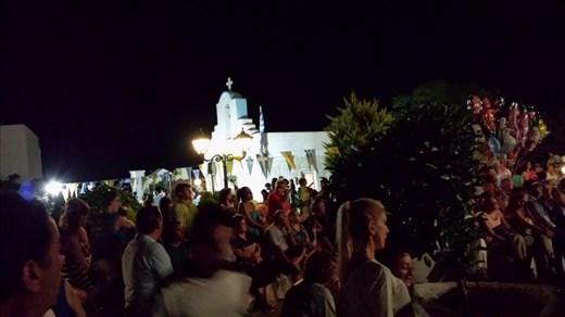 Thursday night church festival I happened upon. Paros