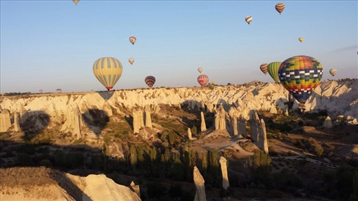 It looks like some of those rock formations were happy to see the balloons.