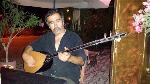 I was out to dinner at a four table restaurant and the only customer. Along with dinner I got a private concert from the restaurant owner. The instrument is called a SRZ. Beats me, it sounded good and it made for a memorable meal.