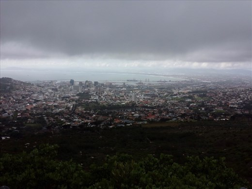 Cape Town view from part way up Table Mt.