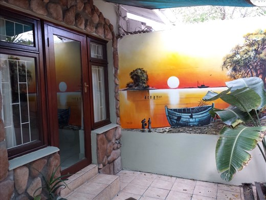 Hostel room entrance