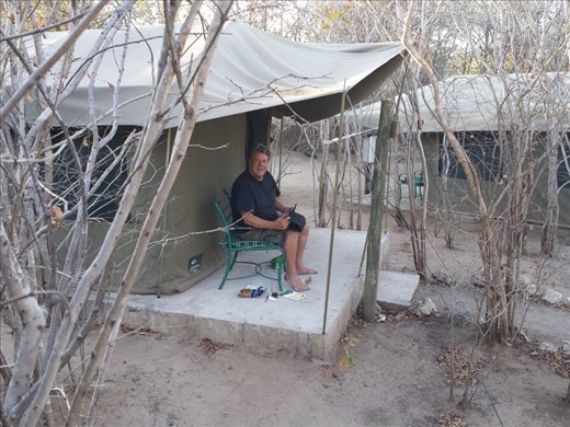 Updating the journal,a very relaxing place to stay for a couple of days, Kwalape Safari Lodge, Botswana
