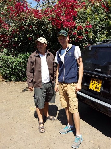 Norman and hoursh sp. The guy that gave me a lift to Chobe national Park