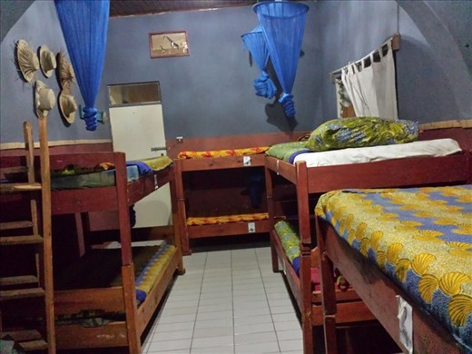 My room, 9 beds, around $10 per bed, I had the place to myself for 2 days.