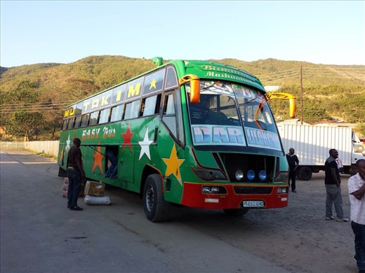 The bus, traveled for 25 hours in this beast from central Malawi to central Tanzania. Drew blood twice, once in the shin and the other a toe.