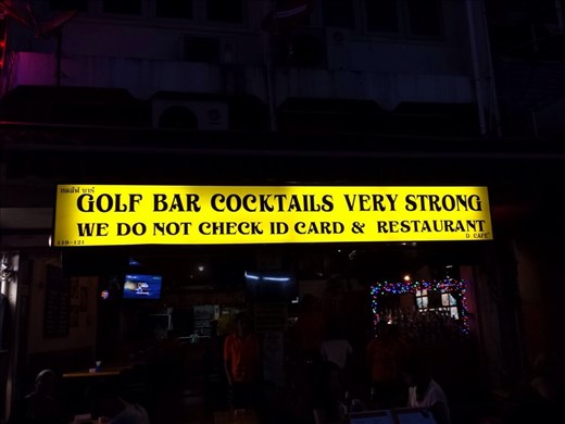 Bar on Khao San Rd. Truth in advertising?