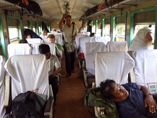 Inside of upper class train car