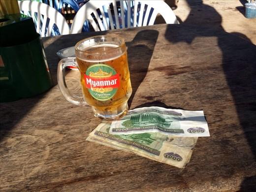 The exchange rate is $1.00 US = 1000. Burma