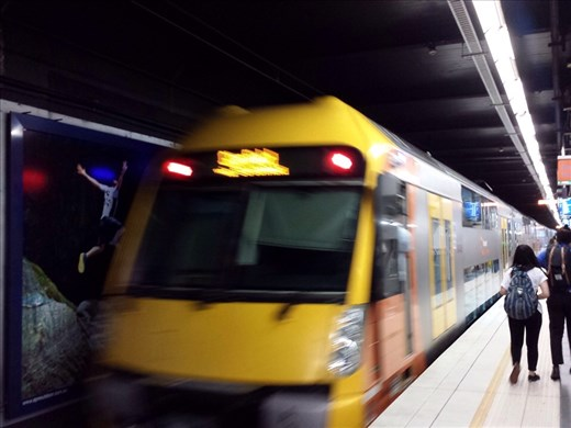 Sydney underground transportation, efficient but pricey. $7.60 for a six stop round trip.