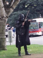 We spotted Darth Vadar playing a violin in Victoria, now there is something you don't see every day!: by lisa-harber, Views[334]