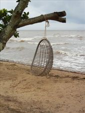 My little swing in Kep. Here I sat and watch the grey clouds roll in: by lisaf, Views[223]