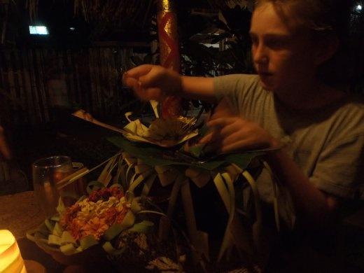 Tom enjoying the best meal we have ever eaten in Bali, Tutri Sari Restaurant -Pemuteran Bali