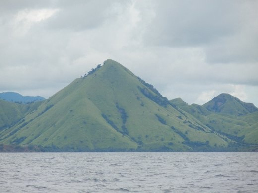Majestic mountain peaks of the Flores archipelago.