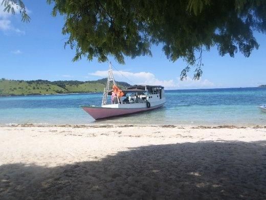 Our ancient Indonesian fishing boat that allowed us to explore the beautiful Flores Archipelago