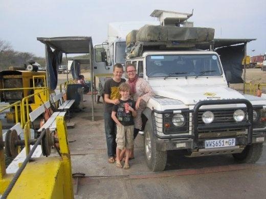 Crossing the Kasungular Ferry - Zambia to Botswana