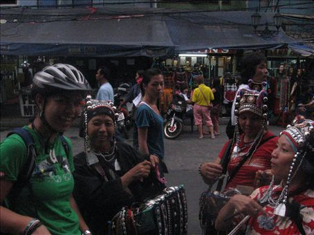 Me with the crazy street peddlers...you buy you buy, you like you like, only 10 baht for you!