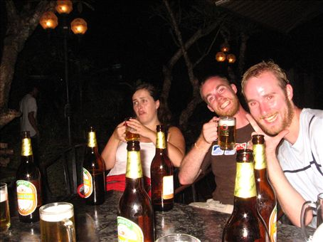 this is the biggest night on the town possible in vientiane, with some likeminded beerlaoloving fullas.
