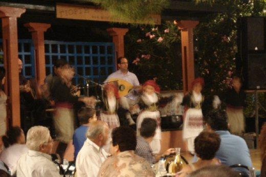 Blurry Greek Dancing children, which we waited til midnight to watch..Greek children don't have bedtimes