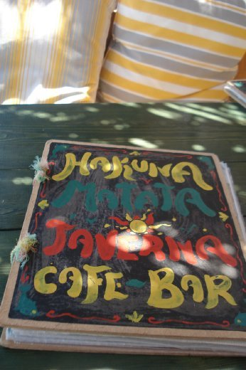 The wonderfully tacky rasta type cafe/bar we had lunch at