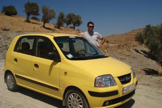 Our mini yellow car..weeeeeeeeeeeeee