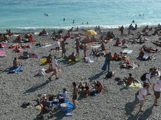 beach goers in the thousands!