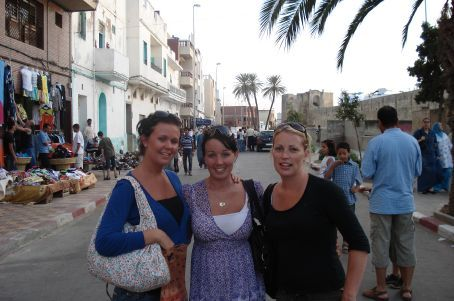 Dom, Erin and I in Asilah..Morocco