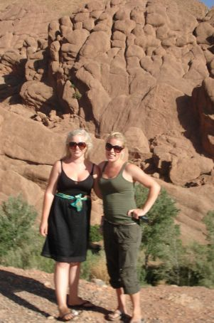 Loz and I in Morocco