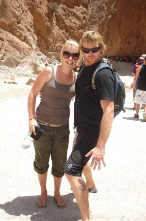 Bruza and I in Dades Gorge Morocco