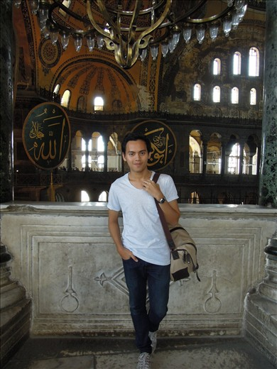 Me from second floor of Ayasofya.