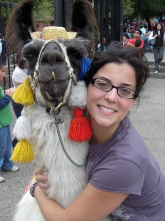 Meli and her true love.  He may be better looking than me but my personality is almost as good.