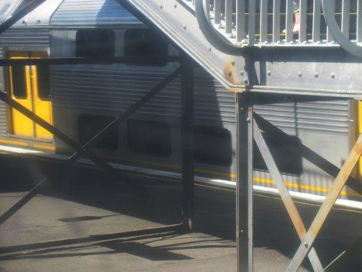 Double-decker trains into Sydney Central.