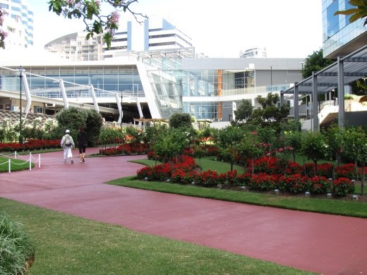 Beautiful gardens outside the railway station at Chatsworth, Sydney