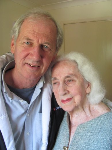 Greg and his dear mother Peggy.