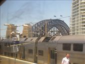 Coming up to Sydney Harbour Bridge on the train.: by locomocean, Views[293]