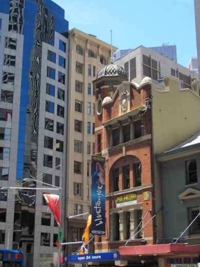 Old mixing with the new, in the Sydney city centre.