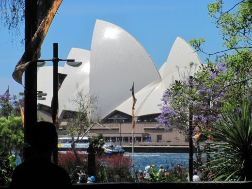 Our first glimpse of the Sydney Opera house.