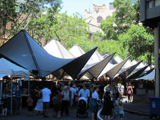 Canopies covering the outdoor market stalls. & Canopies covering the outdoor market stalls. - SYDNEY AUSTRALIA ...