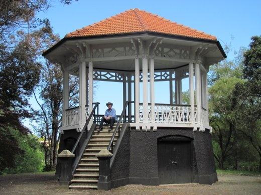 Octagonal bandstand in Virginia Lake Reserve, Wanganui